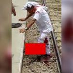 【閲覧注意】列車に轢かれて左足首を切断されるも生き延びた男性のグロ動画。