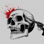 【閲覧注意】銃で撃たれた頭が弾け飛ぶ瞬間を撮影したグロ動画。