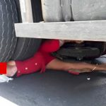 【閲覧注意】トラックのタイヤで顔を完全に破壊されて死亡した女性のグロ動画。