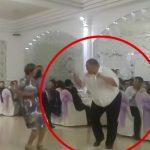 ノリノリでダンスしていた男性が心臓発作て突然死する瞬間。
