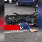 【閲覧注意】事故で胴体が真っ二つになってしまった男性のグロ動画。