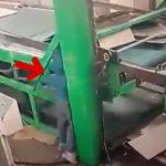 【衝撃映像】作業中に重機に身体を挟まれてしまった男性のアクシデント映像。