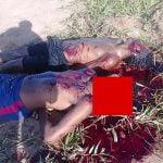 【閲覧注意】銃で顔を破壊されて死亡した3人の死体を撮影したグロ動画。
