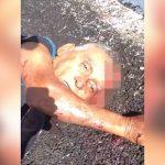【閲覧注意】上半身がちぎれて死んでしまった男性を撮影したグロ動画。