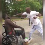 めちゃくちゃ強い車椅子の男性が喧嘩相手をボコボコにする映像。