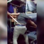 【衝撃映像】囚人男性が2人の男に太ももをヤリで刺されまくる映像。