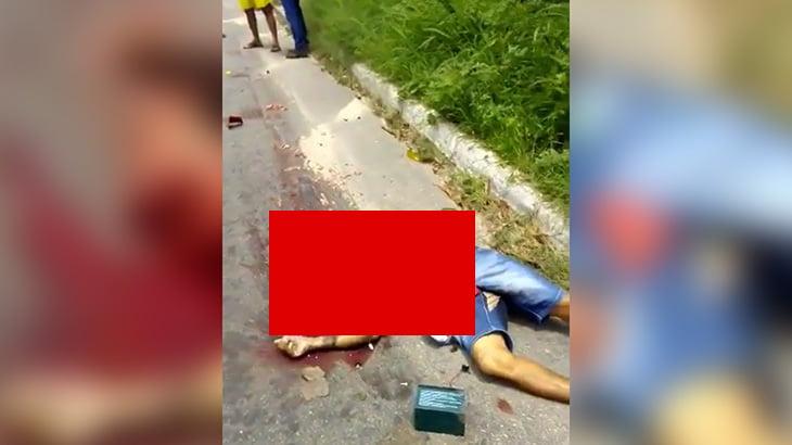 【閲覧注意】バイク事故で頭が完全に破壊されて死亡した男性のグロ動画。