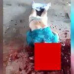 【閲覧注意】刑務所内での暴動。頭を石で潰されてしまった囚人男性のグロ動画。