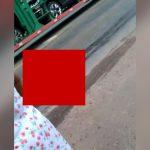 【閲覧注意】トラックに身体を粉砕されて死亡した男性のグロ動画。