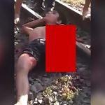【閲覧注意】列車に轢かれて左腕と左脚を切断されてしまった男性のグロ動画。