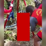 【閲覧注意】森の中で発見された男性のバラバラ死体を撮影したグロ動画。