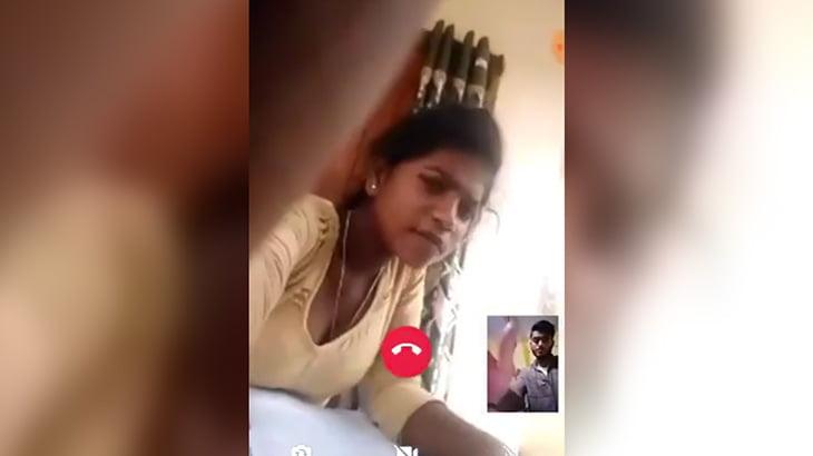 女の子とのテレビ電話中に首吊り自殺する男。