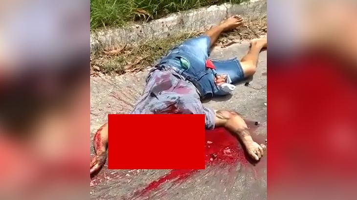 【閲覧注意】頭が潰れて死亡した男性のグロ動画。