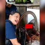 【閲覧注意】何かを粉砕する機械に左手を挟まれてしまった女性のグロ動画。