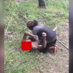 【閲覧注意】川で首を切断された男性の死体を発見したグロ動画。