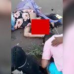 【閲覧注意】トラックに轢かれた女の子、脳が飛び散って死亡したグロ動画。