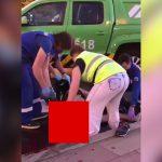 【閲覧注意】事故で胴体グチャグチャになって死亡した男性の死体を回収するグロ動画。