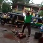 【閲覧注意】街なかで男性の顔をマチェーテで何度も叩き切って殺す男。