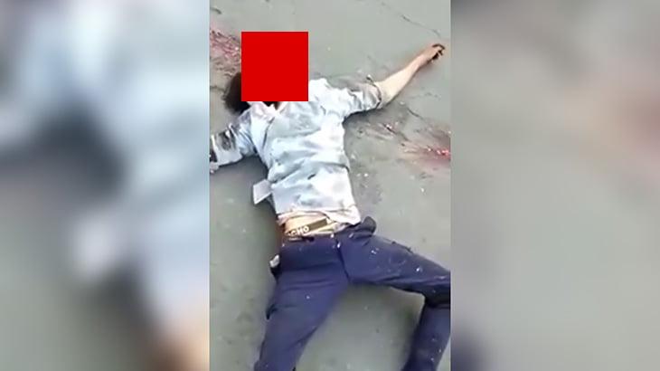 【閲覧注意】バスに轢かれてしまった男性の頭、ヤバイことになってしまったグロ動画。