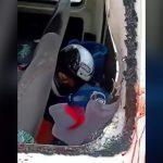 【閲覧注意】車と衝突したバイカー、ヘルメットごと頭を切断されてしまったグロ動画。