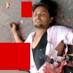 【閲覧注意】トラックに下半身をグチャグチャにされて死亡した男性のグロ動画。