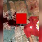 【閲覧注意】銃で撃たれた男性の顔から血が噴き出すグロ動画。