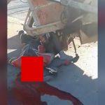 【閲覧注意】ブルドーザーに追突してしまったバイカーの顔、破壊されてしまう・・・。