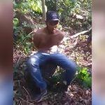 【閲覧注意】森の中で首をマチェーテで叩き切られて殺されるグロ動画。