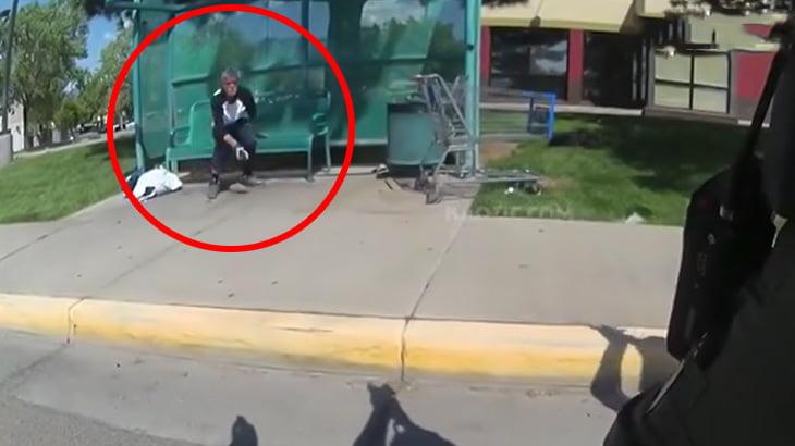 【衝撃映像】エアガンを持っていた精神病の男、警察に撃ち殺されてしまう・・・。