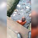 【衝撃映像】めちゃくちゃ汚い下水に逃げ込んだ男。