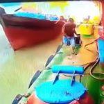 【衝撃映像】燃料を補給して出発しようとした船、爆発して沈んでしまう・・・。
