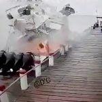 【衝撃映像】突然ボートが爆発して2人の男性が死亡したアクシデント。
