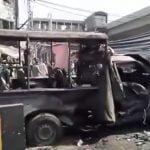 【閲覧注意】自爆テロで多くの人間が死亡する瞬間。