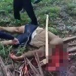 【閲覧注意】鎌で頭を完全に破壊されて死亡した男・・・。