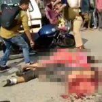 【閲覧注意】バイクに2人乗りしていた男女、トラックに気付かれずに轢き殺されてしまう・・・。