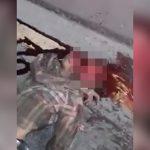 【閲覧注意】事故で死んだ男性、頭が割れて脳が飛び出してしまったグロ動画。