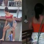 公共の場でエッチな姿を晒してしまった18歳の女の子、母親にめっちゃ怒られる。