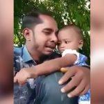 まだ幼い娘の目の前で毒を飲んで自殺をはかる父親の映像。