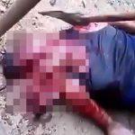 【閲覧注意】斧で頭をグチャグチャにされて殺された男性のグロ動画。