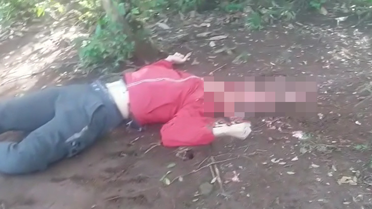【閲覧注意】頭を粉砕されて死亡した男性の死体映像。