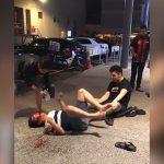 【衝撃映像】2階から転落した男性がめちゃくちゃ痙攣し始める映像。
