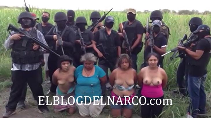 【閲覧注意】麻薬カルテルに捕まった4人の女性が首を切断されて殺されるグロ動画。