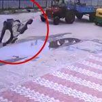不思議でアクロバティックな事故が起こる瞬間の映像。