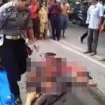 【閲覧注意】トラックにグチャグチャにされた男性の死体を回収するグロ動画。
