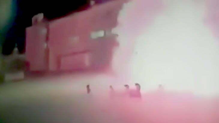 【衝撃映像】軍事学校で30人以上が死亡した空爆の瞬間。