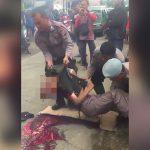 【閲覧注意】頭を車のタイヤで潰されてペラペラになってしまった男性のグロ動画。