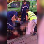 【閲覧注意】事故で胴体が引き裂かれた男性の死体を回収するグロ動画。