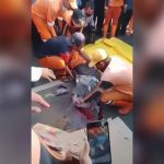 【閲覧注意】脳がこぼれた男性の頭をビニールで包んで回収するグロ動画。