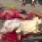【閲覧注意】辛うじて生きている男性と確実に死んでいる女性の事故現場の映像。