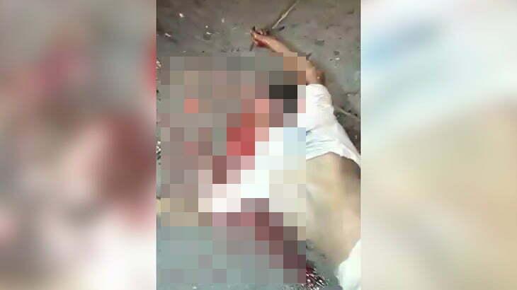 【閲覧注意】トラックのタイヤで頭を潰され脳が飛び散って死亡した男性のグロ動画。